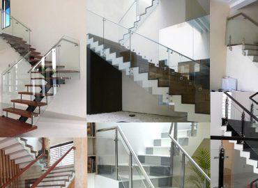 Các mẫu cầu thang kính đẹp tại TP.HCM