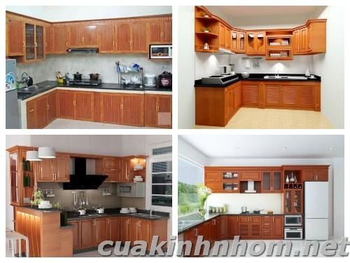 Tủ bếp nhôm kính_ MS01