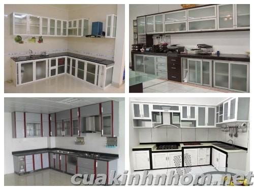 Tủ bếp nhôm kính_ MS02