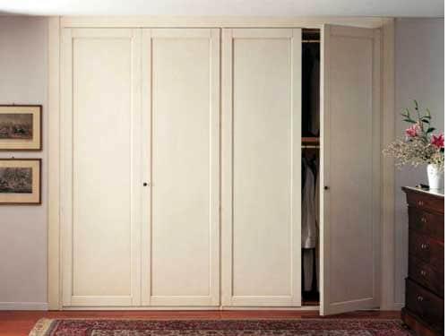 Mẫu tủ âm tường phòng ngủ bằng nhôm màu trắng