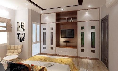 Mẫu tủ nhôm kính âm tường đẹp cho phòng ngủ thêm rộng rãi