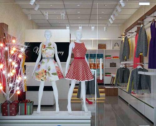 Cửa kính shop thời trang- MS03