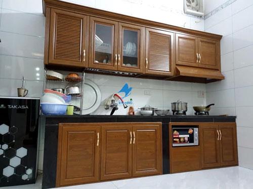 Tủ bếp nhôm kính Hốc Môn- MS01