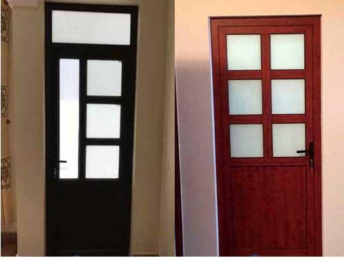 Mẫu cửa nhôm kính 1 cánh chia ô đẹp