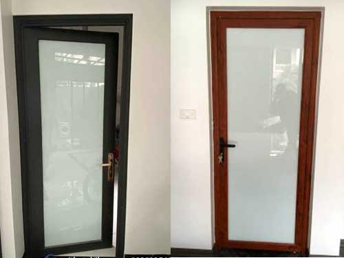 Mẫu cửa nhôm kính 1 cánh hiện đại
