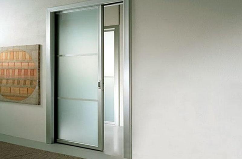 Làm cửa nhôm kính lùa 1 cánh phòng ngủ giá rẻ