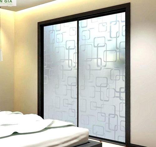 Mẫu cửa nhôm kính lùa 2cánh đẹp cho phòng ngủ