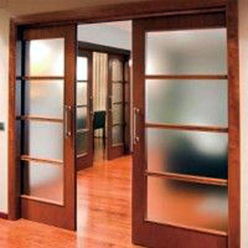 Mẫu cửa nhôm giả gỗ phòng ngủ_ MS04