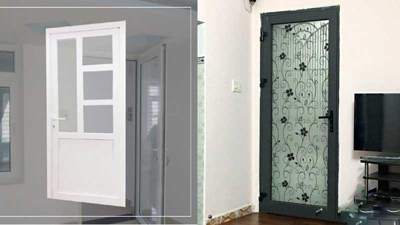 Mẫu cửa nhôm kính 1 cánh phòng ngủ đẹp mắt