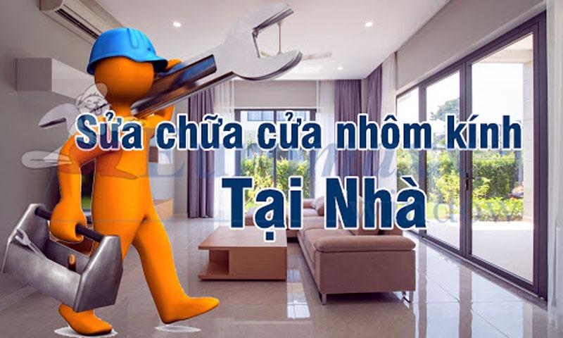Sửa cửa nhôm kính tại nhà tại TP.HCM