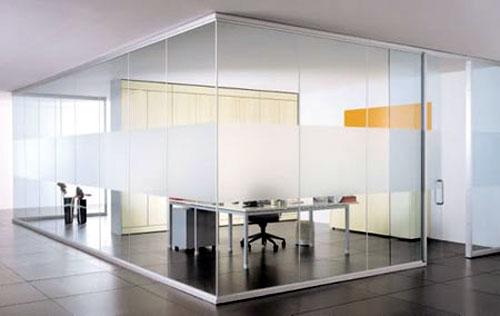 Vách kính cường lực văn phòng- MS06