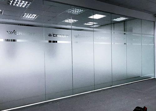 Vách kính cường lực văn phòng- MS01