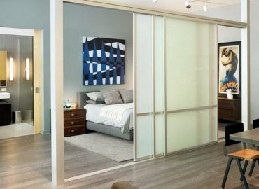 Mẫu vách ngăn nhôm kính phòng ngủ đẹp