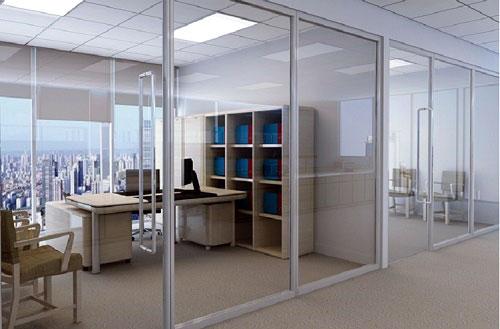 Vách kính cường lực văn phòng- MS02
