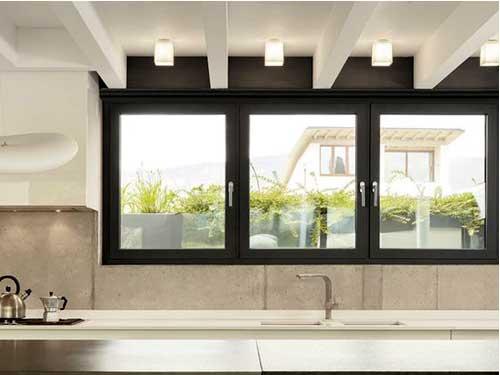 Cửa sổ nhôm kính 3 cánh đẹp cho nhà bếp
