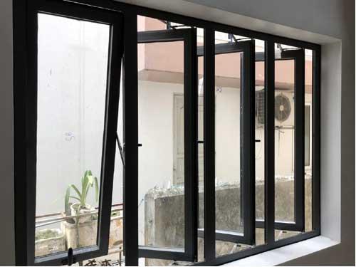 Cửa sổ nhôm Việt Pháp 4 cánh đẹp