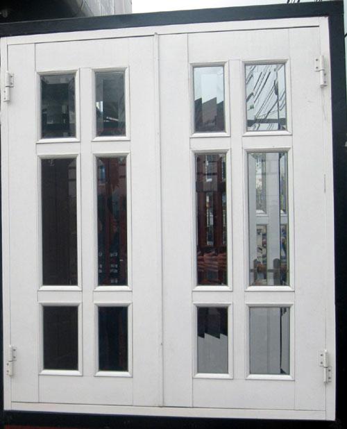 Mẫu cửa nhôm 2 cánh chia - chia đố đẹp
