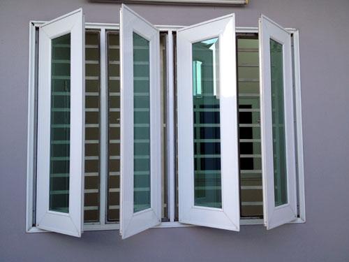 Mẫu cửa sổ nhôm Xingfa 4 cánh đẹp màu trắng