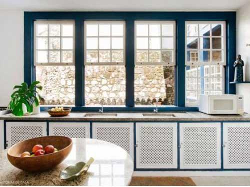 Cửa sổ nhôm Xingfa 4 cánh cho nhà bếp