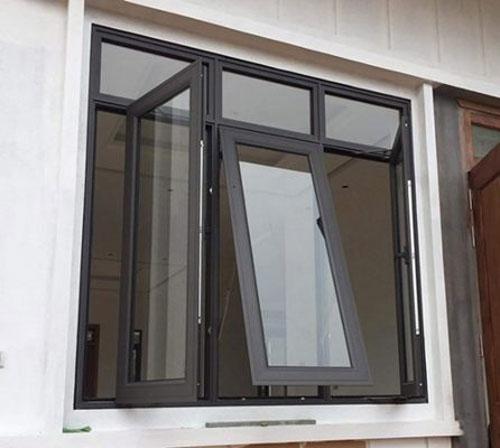 Mẫu cửa sổ nhôm kính đẹp 2021- mở hất và mở quay