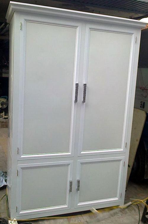 Tủ nhôm kính đựng quần áo tại TPHCM 2 buồng