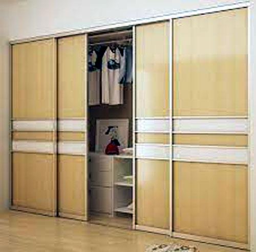 Tủ âm tường nhôm kính đựng quần áo