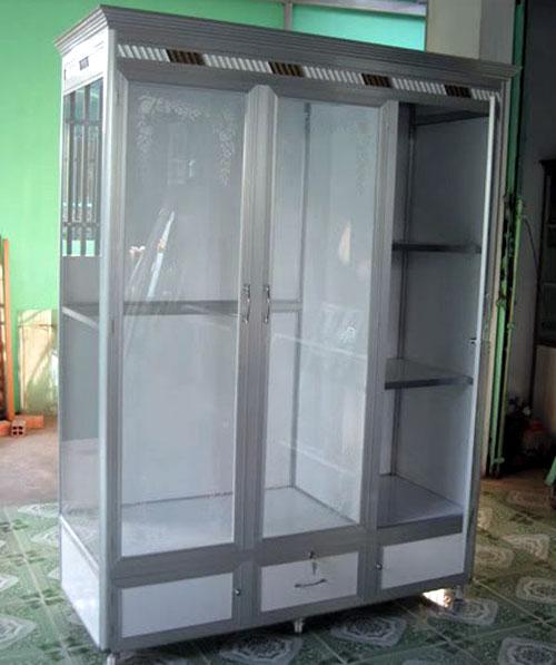 Tủ nhôm kính đựng quần áo tại TPHCM đẹp