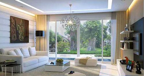 Vách ngăn nhôm kính phòng khách- MS02