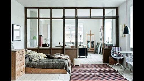 Vách ngăn nhôm kính phòng khách- MS01