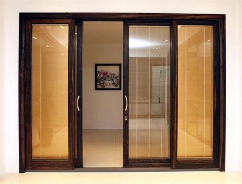 Mẫu cửa nhôm kính 4 cánh mở lùa đẹp
