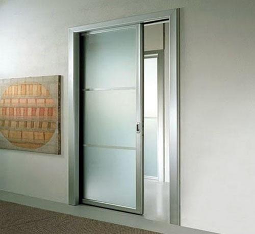 Mẫu cửa nhôm kính lùa 1 cánh đẹp màu trắng