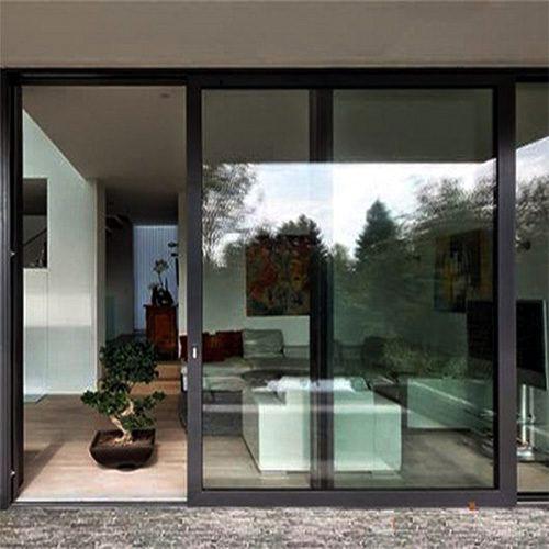 Mẫu cửa nhôm kính 2 cành lùa phòng khách đẹp- MS11