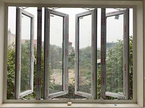 Cửa sổ nhôm Xingfa 4 cánh mở quay