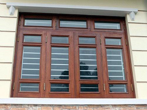 Cửa sổ nhôm giả gỗ 4 cánh đẹp- MS03