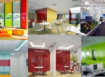 Các mẫu kính màu văn phòng đẹp năm 2021