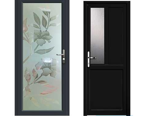 Mẫu cửa nhôm phòng ngủ đẹp màu đen