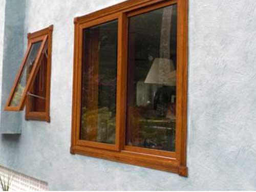 Cửa sổ nhôm Xingfa 2 cánh màu giả gỗ