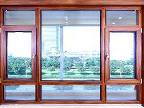 Mẫu cửa sổ nhôm giả gỗ mẫu mới