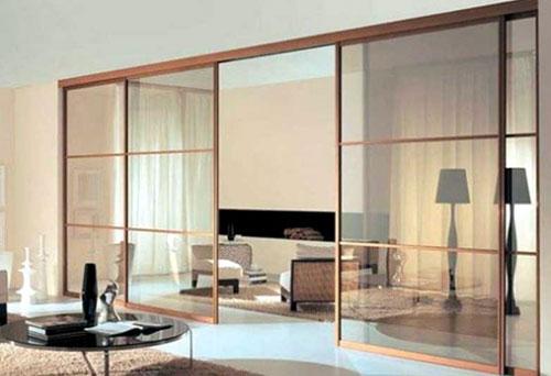 Vách ngăn nhôm kính phòng khách MS01