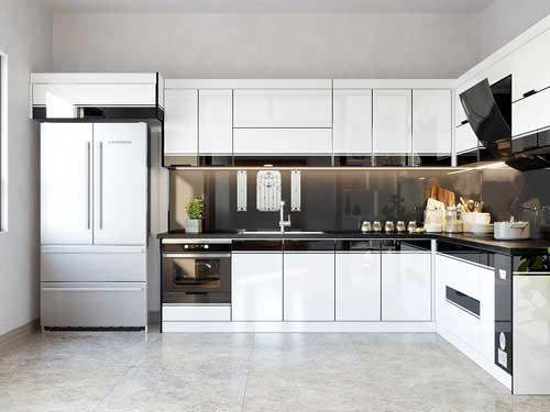 Mẫu tủ bếp nhôm đẹp- MS07