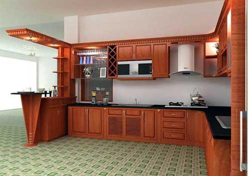 Mẫu tủ bếp nhôm đẹp- MS05