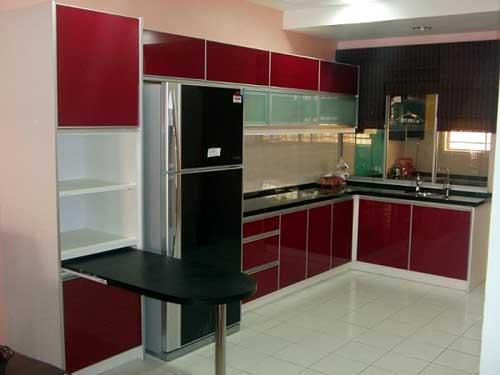 Mẫu tủ bếp nhôm đẹp- MS04
