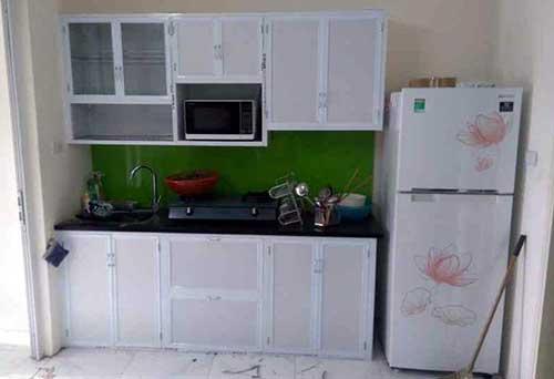 Mẫu tủ bếp nhôm đẹp- MS03