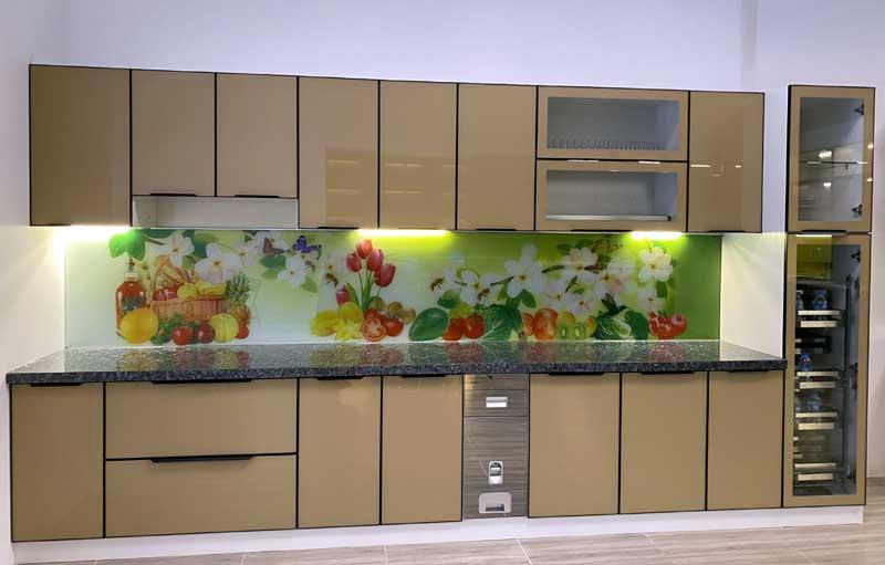 Thiết kế và lắp đặt tủ bếp nhôm sơn tĩnh điện đẹp rẻ nhất tại TP.HCM