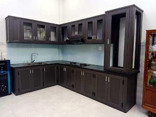 Mẫu tủ bếp nhôm đẹp- MS08