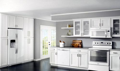 Làm tủ bếp nhôm trắng đẹp mê hồn