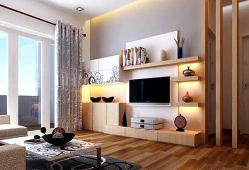 Mẫu tủ âm tường phòng khách đẹp- MS04