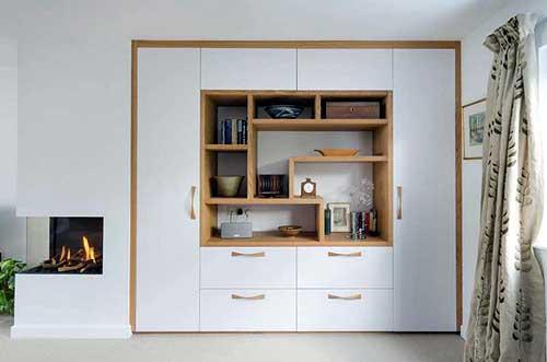 Mẫu tủ âm tường phòng khách đẹp- MS01