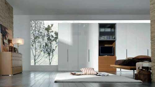 Mẫu tủ âm tường phòng khách đẹp- MS05