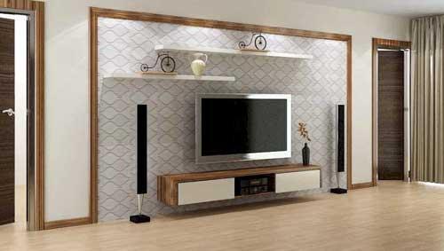 Mẫu tủ âm tường phòng khách đẹp 2021